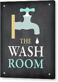 The Wash Room Acrylic Print by Jo Moulton