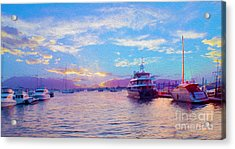 The Waters Are Calm Painting  Acrylic Print by Jon Neidert