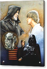 The Way Of The Force Acrylic Print by Edward Draganski