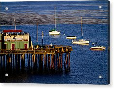 The Wharf Acrylic Print by Tom Kelly