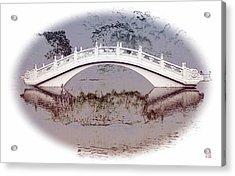 The White Bridge Acrylic Print by Roger Smith