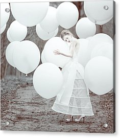 The White Dream Acrylic Print by Anka Zhuravleva