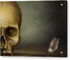The White Feather Acrylic Print by Simone Galimberti