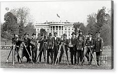The White House Photographers Acrylic Print by Jon Neidert