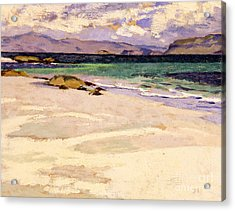 The White Strand  Iona Acrylic Print by Francis Campbell Boileau Cadell