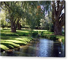 The Willows Of Grand Pre Acrylic Print by George Cousins