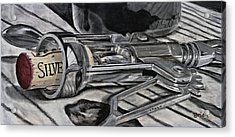 The Wine Master's Touch Acrylic Print by Brien Cole