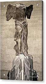 The Winged Victory Of Samothrace Marble Sculpture Of The Greek Goddess Nike Victory Acrylic Print by Gregory Dyer