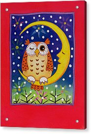 The Winking Owl Acrylic Print by Cathy Baxter