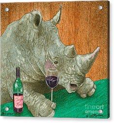 The Wino... Acrylic Print by Will Bullas