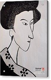 The Woman Acrylic Print by Taikan Nishimoto