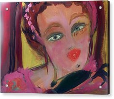 The Woman Who Whistled At The Opera Acrylic Print by Judith Desrosiers
