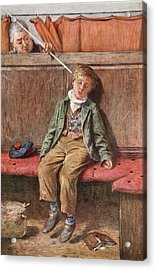 The Word And A Blow, 1875 Acrylic Print by Henry Benjamin Roberts