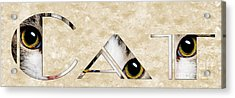 The Word Is Cat Acrylic Print by Andee Design