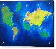 The World Atlas According To The Irish Acrylic Print by Conor Murphy