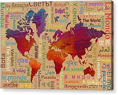 The World Acrylic Print by Bedros Awak