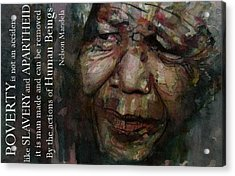 The World Holds It's Breathe Acrylic Print by Paul Lovering
