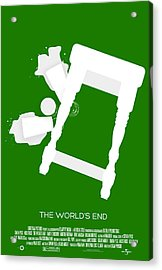 The Worlds End Cornetto Trilogy Custom Poster Acrylic Print by Jeff Bell