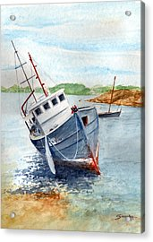 The Wreck Acrylic Print by Christian Simonian