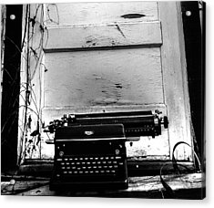 The Writer  Acrylic Print by Steven  Taylor