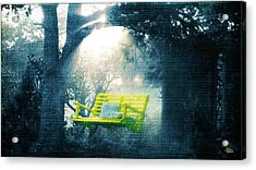 The Yellow Swing Acrylic Print by Douglas MooreZart