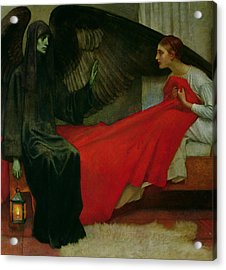 The Young Girl And Death Acrylic Print by Marianne Stokes