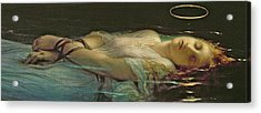 The Young Martyr Acrylic Print by Hippolyte Delaroche