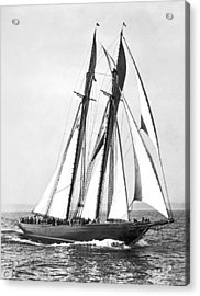 Thebaud Under Full Sail Acrylic Print by Underwood Archives