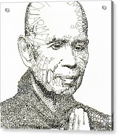 Thich Nhat Hanh Acrylic Print by Michael  Volpicelli