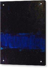 Thin Blue Line Acrylic Print by Sarah Jane Thompson
