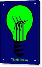 Think Green Acrylic Print by Asbjorn Lonvig