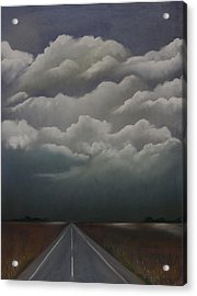 This Menacing Sky Acrylic Print by Cynthia Lassiter
