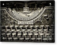 This Old Typewriter Acrylic Print by Paul Ward