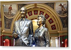 This Statue Of Maureen And Mike Mansfield Acrylic Print by Larry Stolle