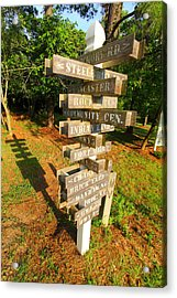 A Sign In Lancaster Acrylic Print by Joseph C Hinson Photography