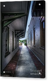 This Way To The Trains Acrylic Print by Marvin Spates
