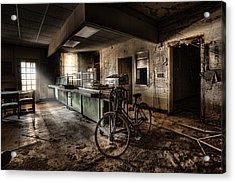 This Would Be The End - Cafeteria - Abandoned Asylum Acrylic Print by Gary Heller