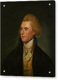 Thomas Jefferson, 1776 Acrylic Print by Charles Willson Peale