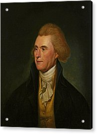 Thomas Jefferson Acrylic Print by Charles Wilson Peale