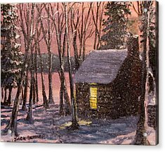 Thoreau's Cabin Acrylic Print by Jack Skinner