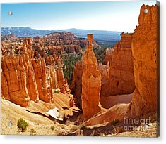 Thor's Hammer At Bryce Canyon Acrylic Print by Alex Cassels