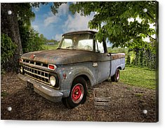 Those Were The Days Acrylic Print by Debra and Dave Vanderlaan
