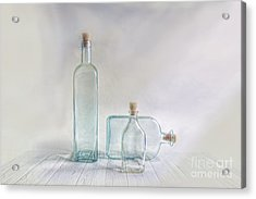 Three Bottles Acrylic Print by Veikko Suikkanen