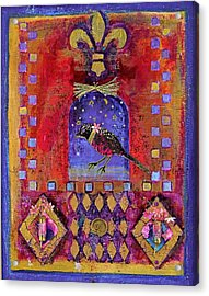 Three Dimensional Art Acrylic Print by Janet Ashworth