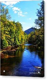 Three Forks Williams River Early Fall Acrylic Print by Thomas R Fletcher