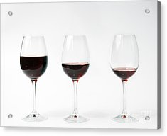 Three Glasses Of Wine  Acrylic Print by Patricia Hofmeester