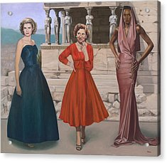 Three Graces Acrylic Print by Terry Guyer