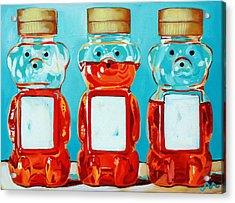 Three Little Bears Acrylic Print by Jayne Morgan
