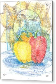 Three Mexican Girls Acrylic Print by Kippax Williams