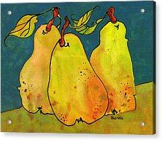 Three Pears Art  Acrylic Print by Blenda Studio